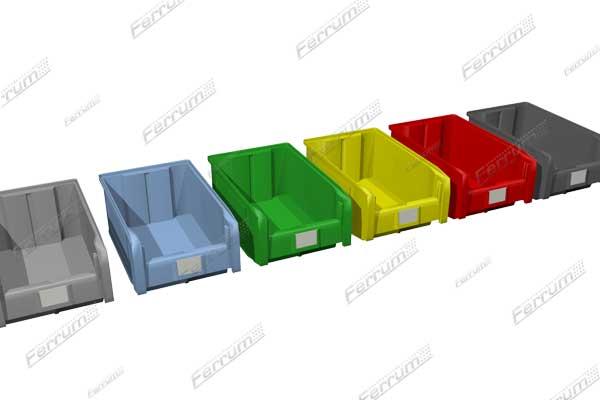 Ящики пластиковые для стеллажей объемом 9,4 л.
